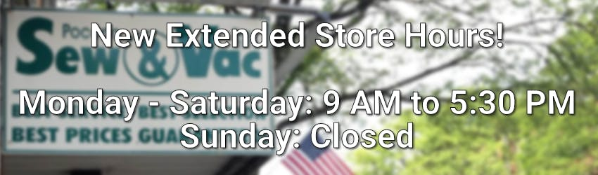 Now open Monday through Saturday 9 AM to 5:30 PM.