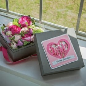 Valentine's Gift Box and Shaker Card
