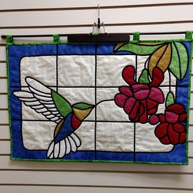 Hummingbird Sipper in Stained Glass