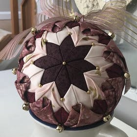No-Sew Quilt Ball Ornament