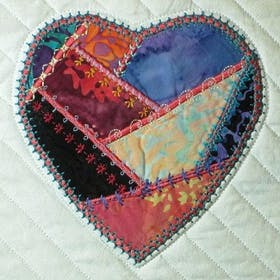 Decorative Stitches and a Crazy Quilt Heart