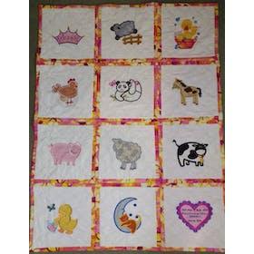 Machine Appliqué Quilt Blocks In the Hoop