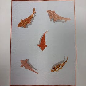 Koi Fish Pond Quilt