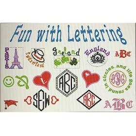 PE Design Fun with Lettering