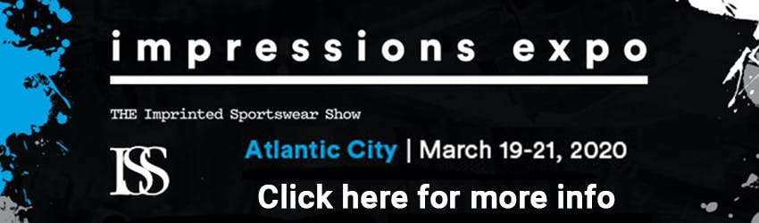 The Impressions Expo (formerly ISS-Imprinted Sportswear Show) in Atlantic City features an expo show floor with over 200 exhibitors in the decorated apparel industry. We will be on hand to show and explain our multi-needle embroidery machines and answer anything embroidery! Join us March 19th - 21st, 2020. Click here for more info.