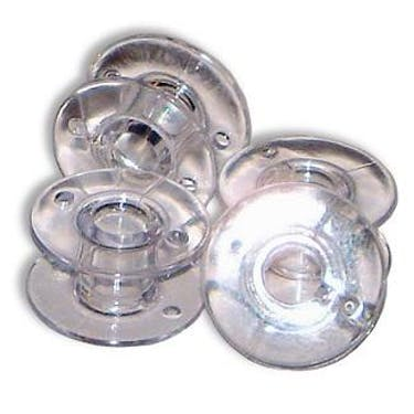 Brother Clear Plastic Bobbins SA156 (11.5 Size - 7/16 inches) 10/30/50/100 packs