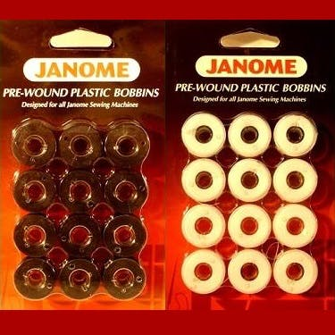 Janome 60wt Packaged Pre-wound Bobbins