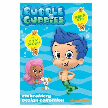 Brother Nickelodeon Bubble Guppies Embroidery Design Collection CD