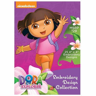 Brother Nickelodeon Dora the Explorer Embroidery Design Collection CD