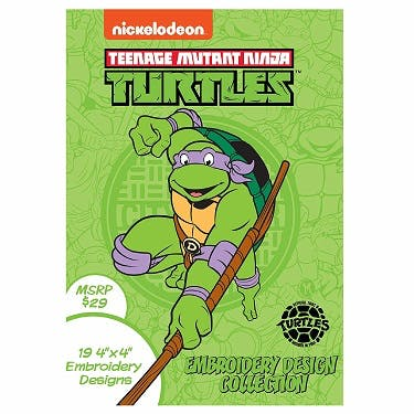 Brother Nickelodeon Teenage Mutant Ninja Turtles Embroidery Design Collection CD