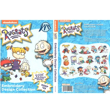 Brother Nickelodeon Rugrats Embroidery Design Collection CD