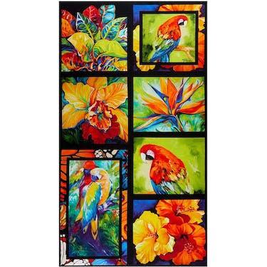 Benartex Rainforest Multi Fabric Panel by Marcia Baldwin 24
