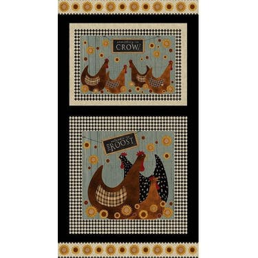 Benartex Roost Multi Fabric Panel 24