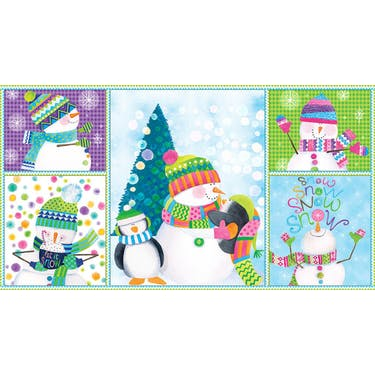 Blank Fabrics By Golly, Lets be Jolly! Panel 24