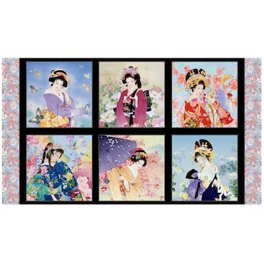 "Elizabeth's Studio Metallic Geiko Collection Drama 24"" x 44''"