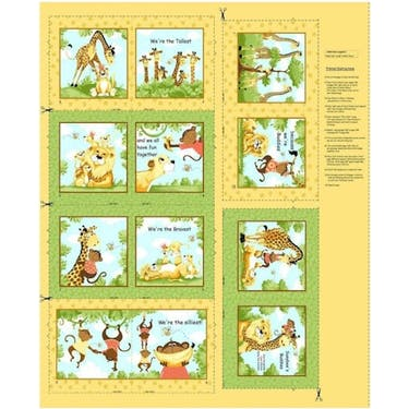 Hamill Textiles Buddies Storybook Susybee Fabric Panel 36