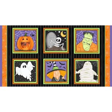 Henry Glass & Co A Haunting We Will Glow (GLOW IN THE DARK!) by Shelly Comiskey Fabric Panel 44