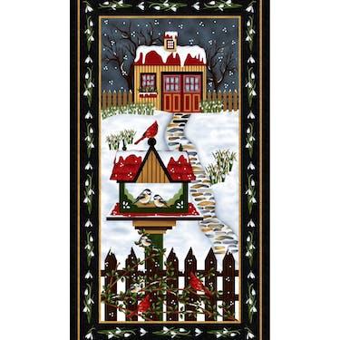 Henry Glass & Co Frozen in Time Fabric Panel by Jan Mott 24