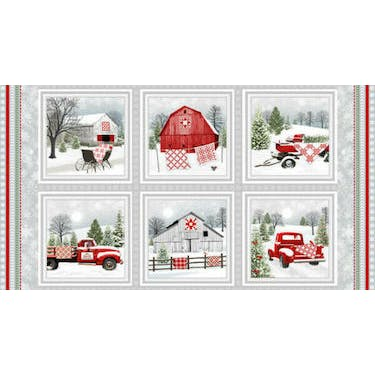 Henry Glass & Co Holiday Heartland Multi Fabric Panel by Jan Shade Beach 44