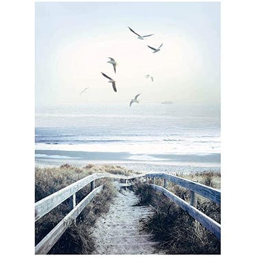 Hoffman Fabrics Call Of The Wild Beach Steps Panel 43.5