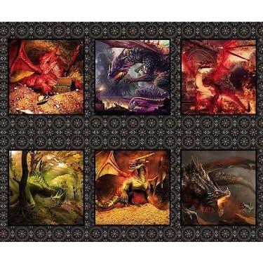 The Beginning Fabrics Dragons - Red Fury Multi Fabric Panel 44