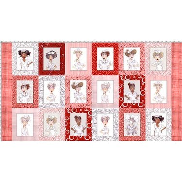 Loralie Designs Nifty Nurses Multi Fabric Panel 44