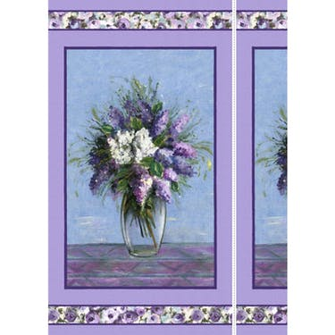 Michael Miller Fabrics Dreaming of Tuscany Blooming Vase Fabric Panel 24