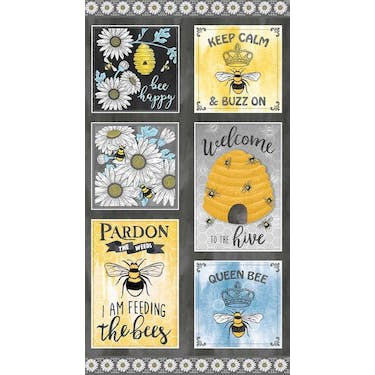 Michael Miller Fabrics Welcome To The Hive Queen Bee, By Diane Kappa, 25