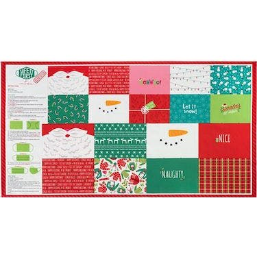 Moda Fabrics Safety First Holiday Edition Face Mask Fabric Panel 44