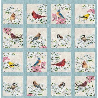 Northcott Joys of Spring Multi Fabric Panel 24