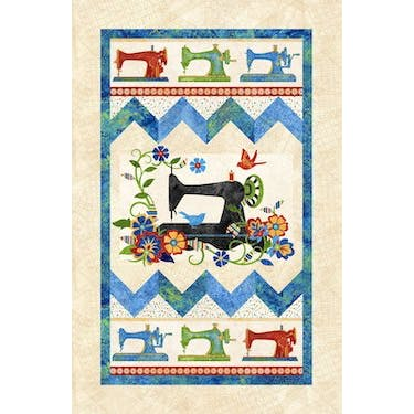 Northcott Stonehenge Stitch In Time Primary Brights Fabric Panel 24