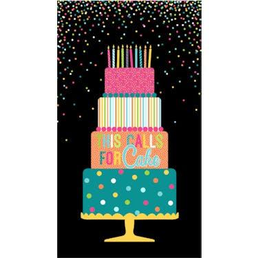 Northcott This Calls For Cake Fabric Panel 25.5 x 44