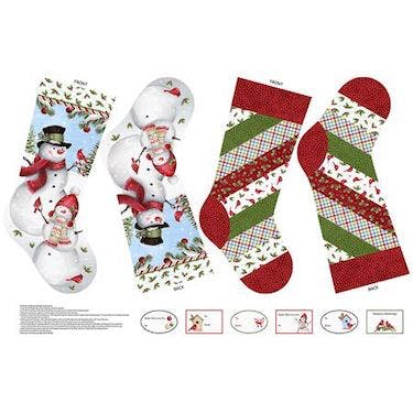Northcott Winter Welcome Holiday Stocking Fabric Panel By Eml Studio 25