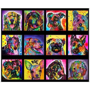 Quilting Treasures Doggie Daze by Dean Ruso Multi Fabric Panel 44