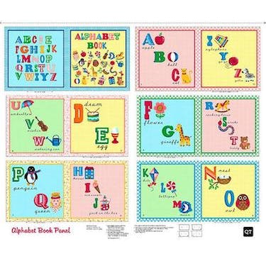 Quilting Treasures Sew & Go II ABC Book Studio 8 Fabric Panel 44