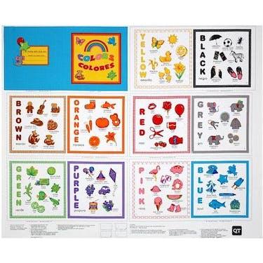 Quilting Treasures Sew & Go II Color Book Studio 8 Fabric Panel 44