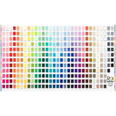 Robert Kaufman Printed Color Chart Fabric Panel 44