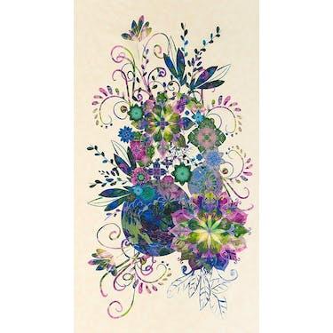 "Robert Kaufman Venice Jewel Purple Fabric Panel 24"" x 44"""
