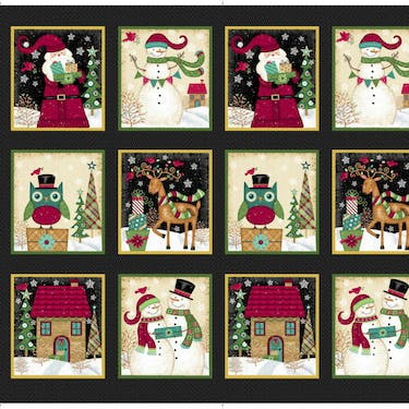 Studio E Holly Jolly Christmas Multi Fabric Panel By Sharla Fults 24
