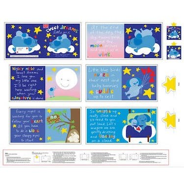 Studio E Huggable and Lovable Sweet Dreams Little One Fabric Book Fabric Panel 44