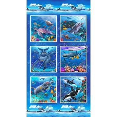 Studio E Reef Life Multi Fabric Panel by Lorenzo Tempesta 24