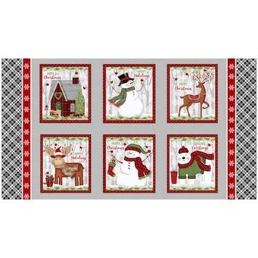 Studio E Snow Merry Multi Fabric Panel by Sharla Fults 44
