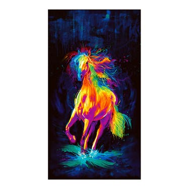 Timeless Treasures Painted Horse Panel 24