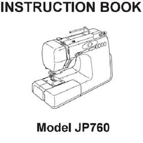 FREE Instruction Manuals for Janome Jem Platinum 760