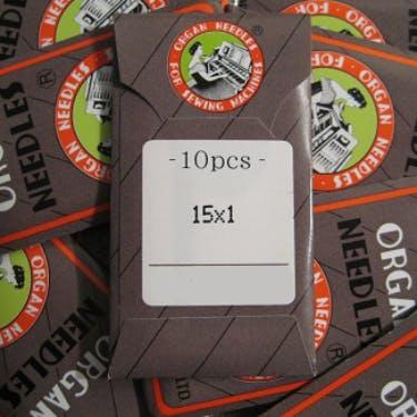 Organ Universal Needles 15x1 Titanium 10 PACK (Size 80/12 or 90/14)