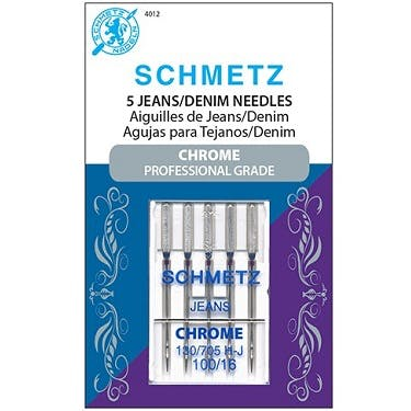 Schmetz Chrome Jeans Needles (Size 100/16)