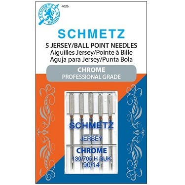 Schmetz Chrome Jersey Ball Point (Choose Size)