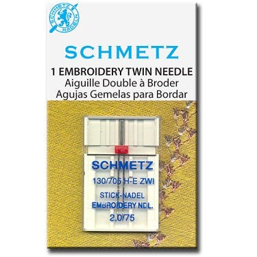 Schmetz Embroidery Twin Needles (Choose Size)