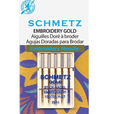 Schmetz Gold/Titanium Embroidery Needles (Choose Size)
