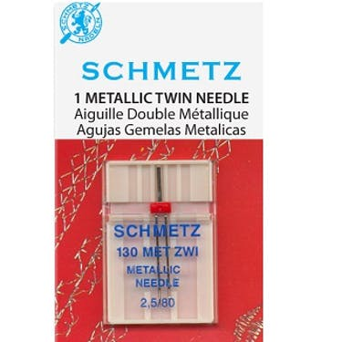 Schmetz Metallic Twin Needles (Choose Size)